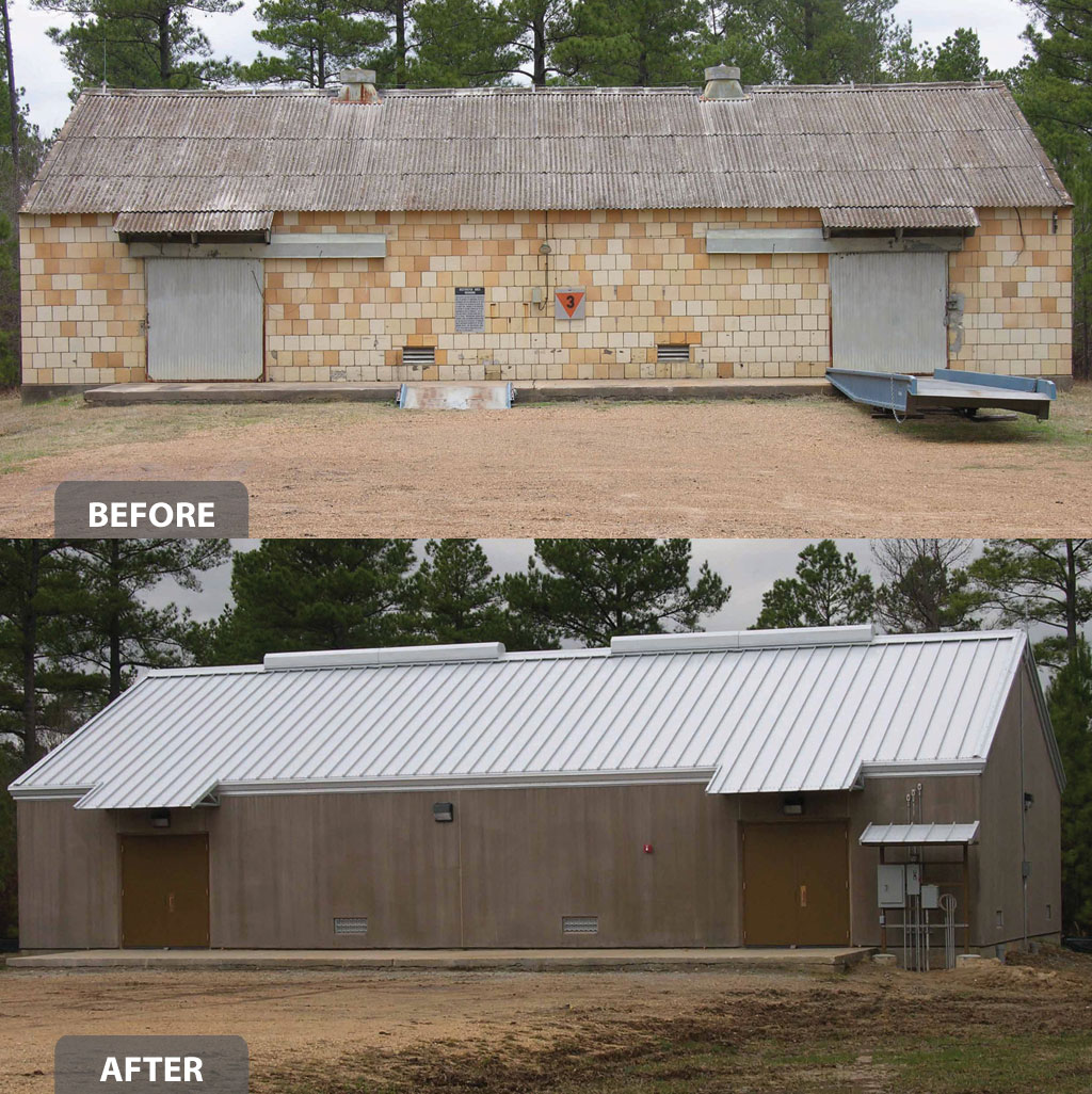 PBA Is Upgrading Bomb Storage Buildings, Constructed In 1942, Which House  Ammunition And Ammunition Components. At The Same Time, Processes For  Moving ...