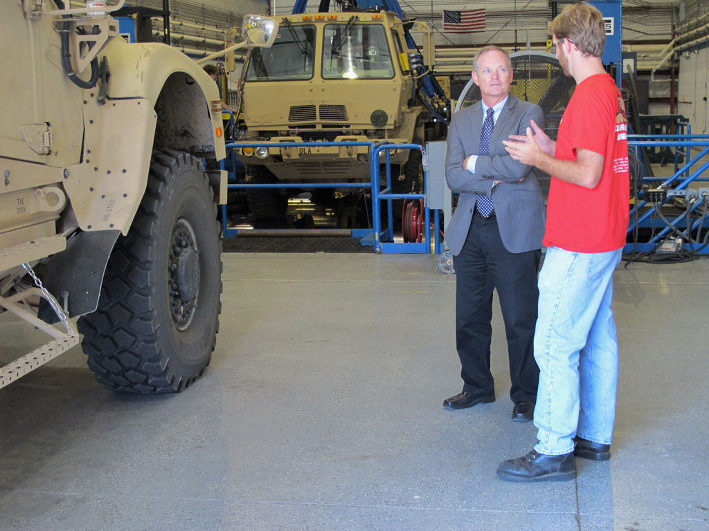 Mike Cook of ATC discusses the Roadway Simulator with Dr. Fish