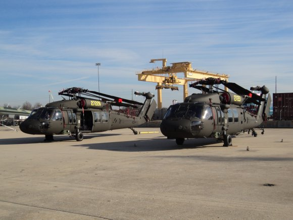 Two UH-60M helicopters