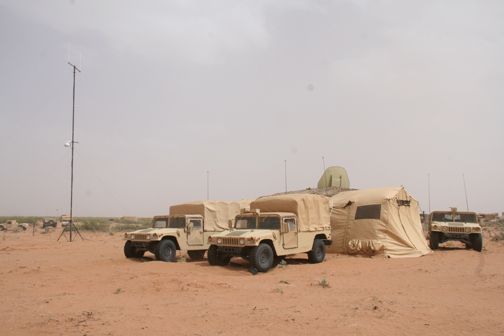 The Army's new Tactical Network Transmission equipment collection includes the new command post 4G LTE/Wi-Fi system and was evaluated at Army's Network Integration Evaluation 14.2, at Fort Bliss, Texas, in May 2014. Photo Credit: Amy Walker, PEO C3T