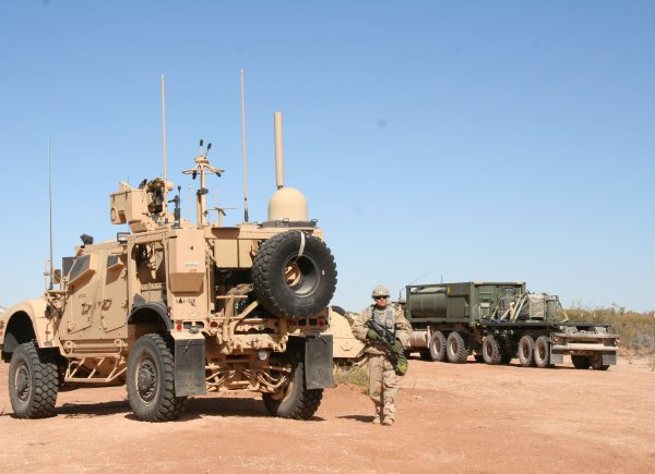 The Soldier Network Extension (SNE), pictured at left, is part of the Warfighter Information Network-Tactical (WIN-T) Increment 2 mobile network that enables Soldiers operating in remote and challenging terrain to maintain voice, video and data communications while on the move. The Army is making the SNE more user-friendly through major reductions in startup and shutdown times, a simplified graphical interface and improved troubleshooting tools. (Photo Credit: Amy Walker, PEO C3T)