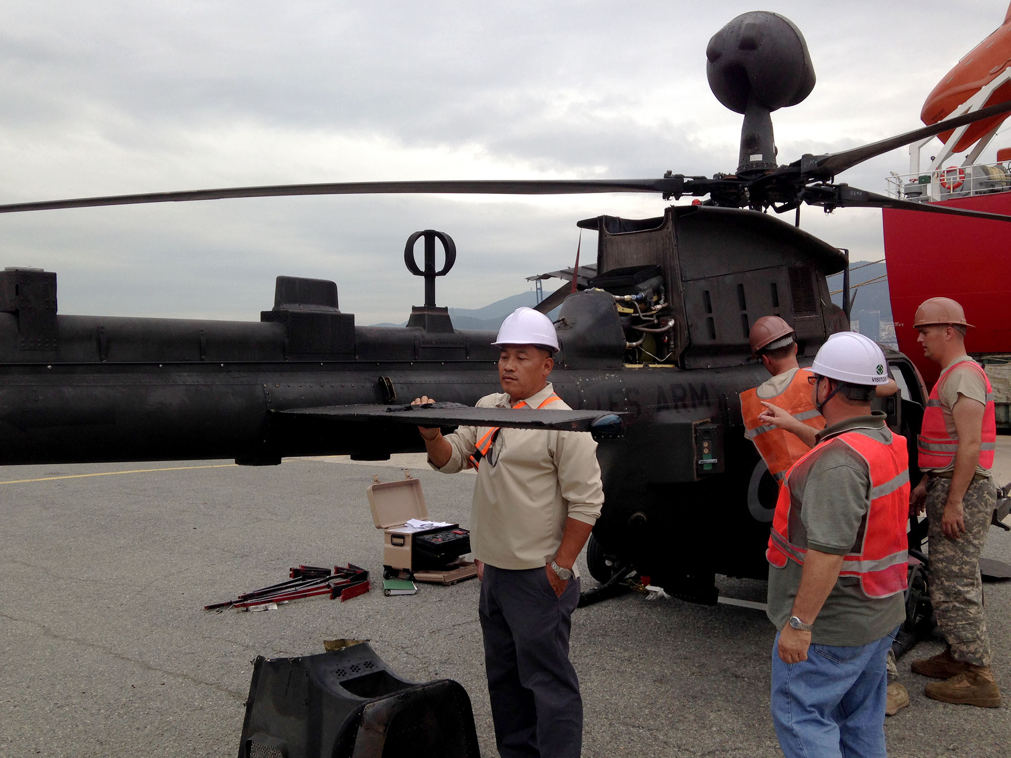 OH-58D Kiowa Warrior helicopters inspection