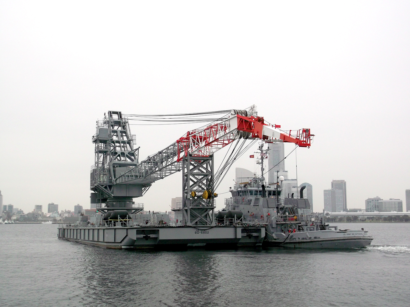 U.S. Army Vessel Port Hudson departs Yokohama en route to Okinawa as part of Pacific Utility and Logistics Support Enabler – Watercraft.