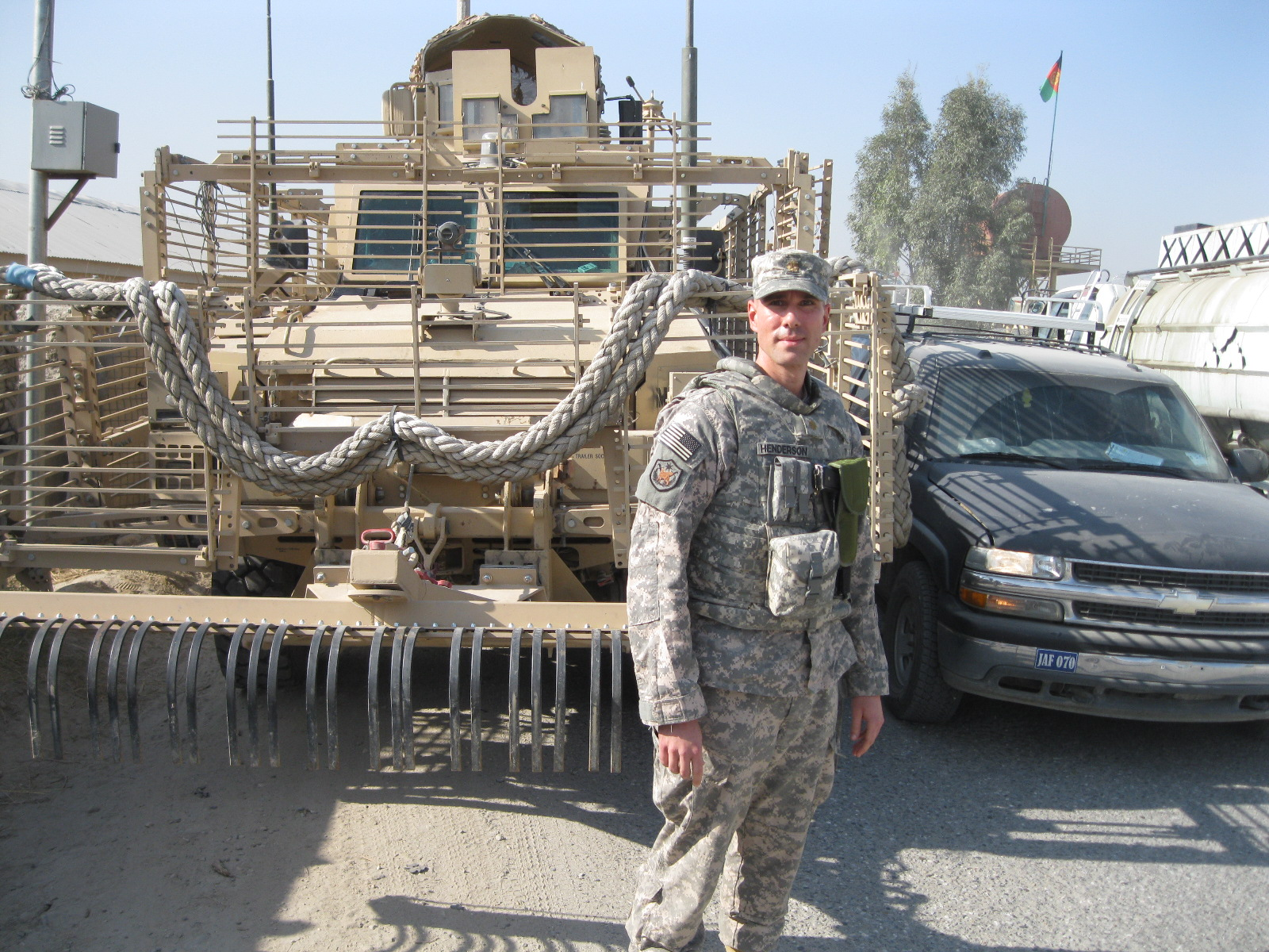 Henderson during a deployment to Afghanistan in 2011
