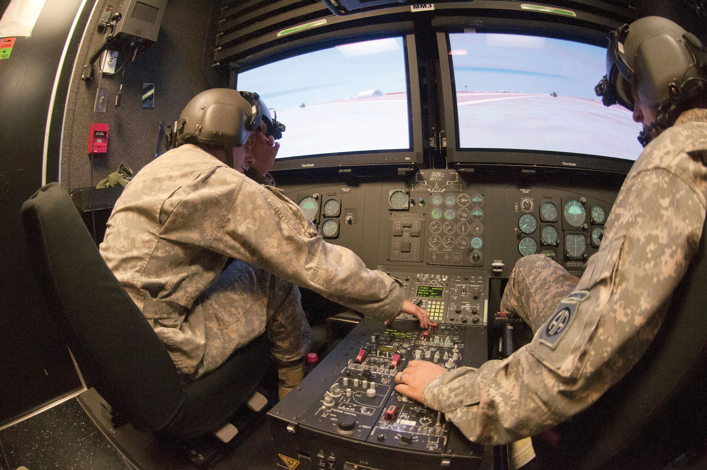 CH-47D helicopter simulator GPS