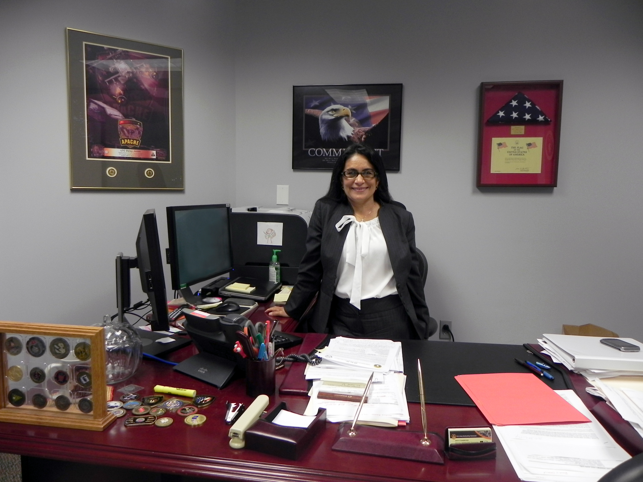 Deisy D'Ambrosio, director of the Non Standard Rotary Wing Aircraft/Foreign Military Sales Directorate, has notched nearly 30 years of Army service.