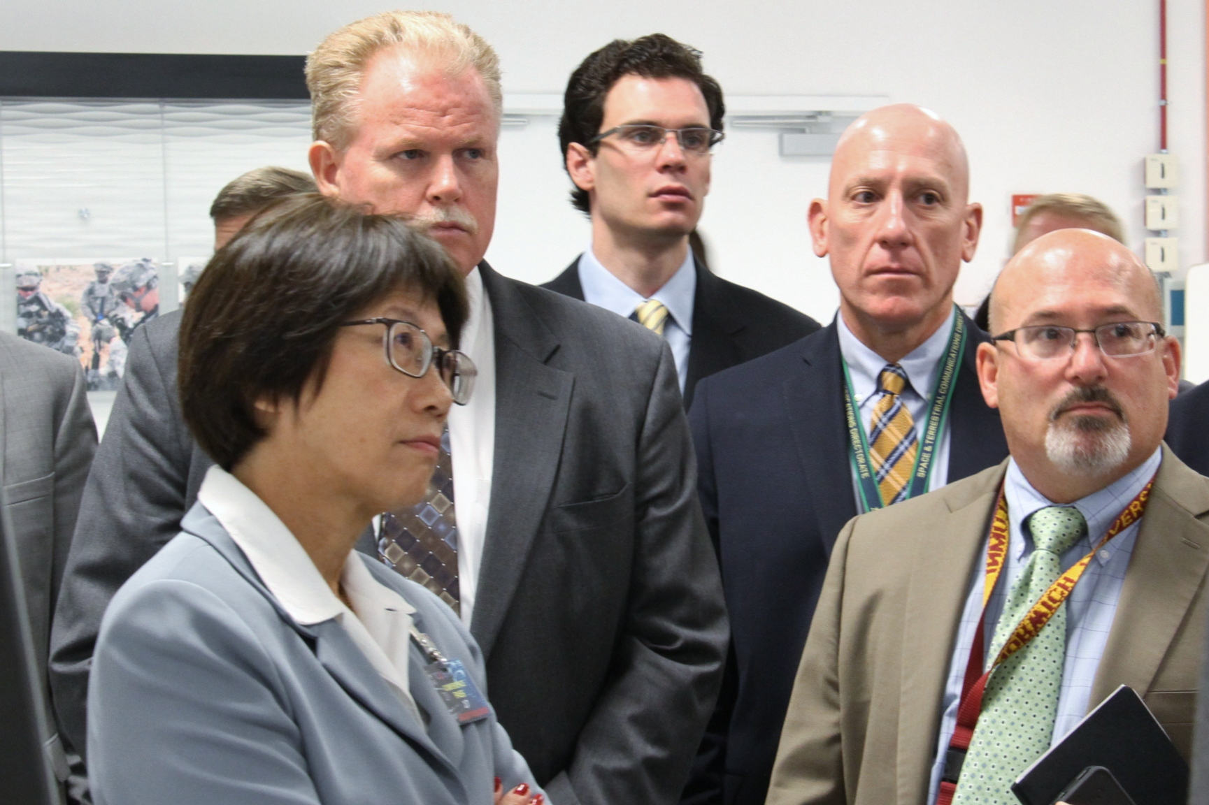 The Hon. Heidi Shyu, the  ASA(ALT), toured a CERDEC lab along with CERDEC Director Henry Muller, CERDEC S&TCD Director John Willison, and CECOM Deputy Director Gary Martin.