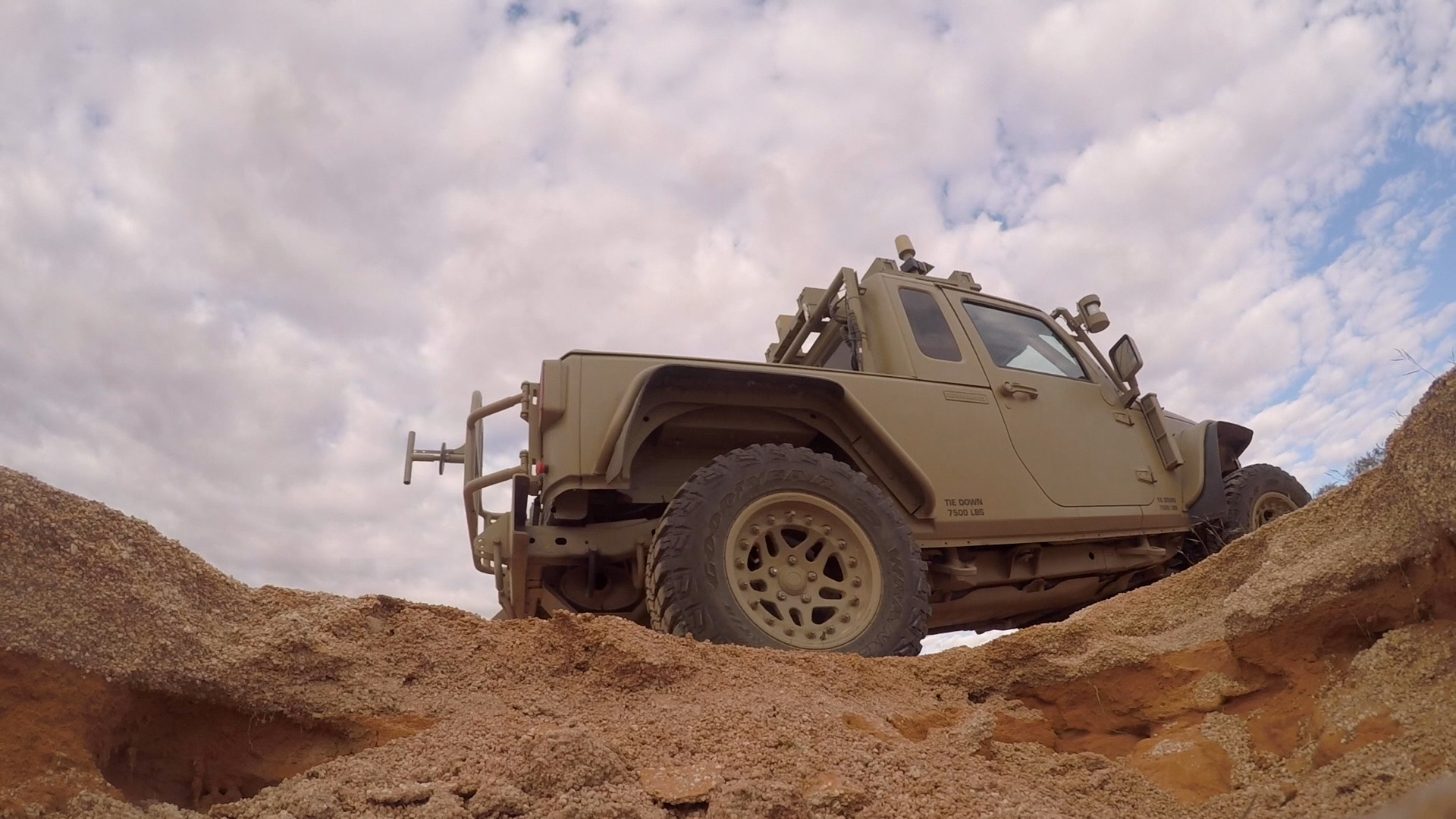 TARDEC robotics engineers went to the Woomera Test Range in South Australia to evaluate the resilience of autonomously driving a Jeep Wrangler Rubicon operated from across the globe by TARDEC engineers in Warren, Michigan. (Photo by Isiah Davenport)