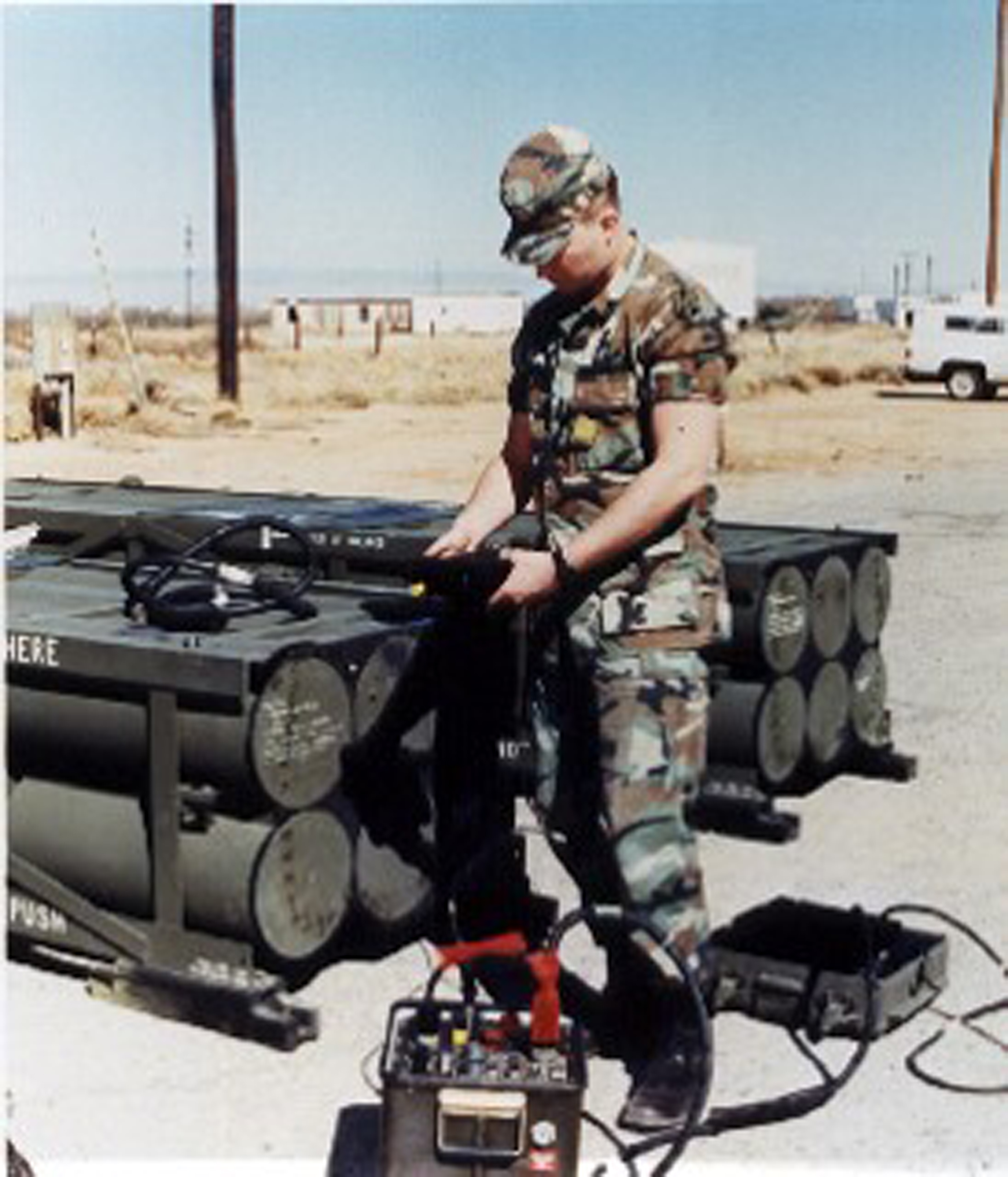 A Soldier from the 6th Battalion, 27th Field Artillery Regiment, the test unit for the ATACMS' IOT&E, operates the missile monitor test device, with which the ATACMS was supposed to be interoperable. However, not having received sufficient emphasis before OT, the device surprised the PMO by testing good missiles to be bad and bad missiles to be good. (Photo courtesy of the author)