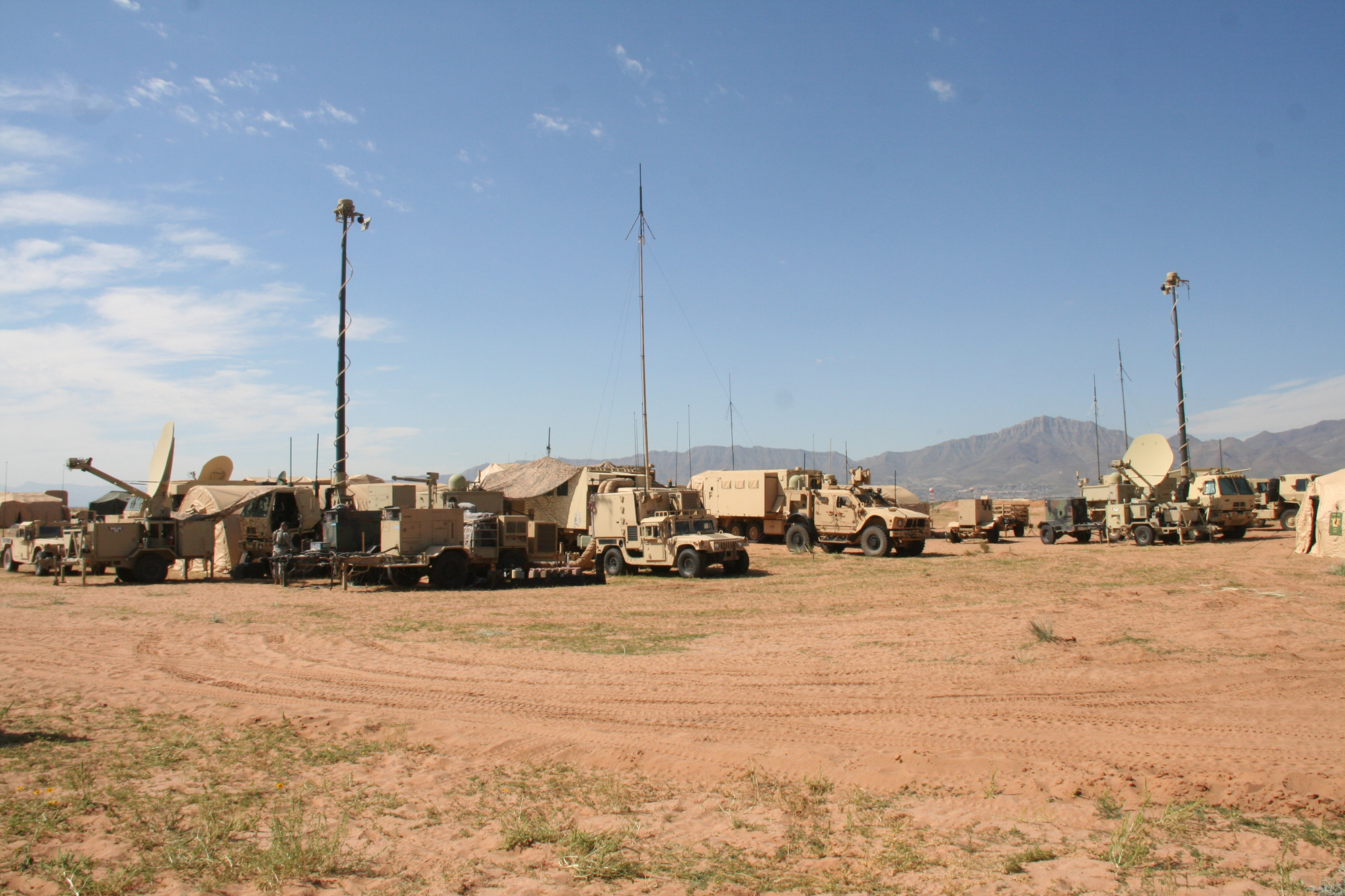 The Army's tactical network leverages WIN-T equipment to enable mission command, situational awareness and secure reliable voice, video and data communications, both on the move in tactical vehicles or inside a command post such as this brigade command at Army Warfighting Assessment 17.1 at Fort Bliss, Texas, in October 2016. (U.S. Army photo by Amy Walker, PEO C3T Public Affairs)