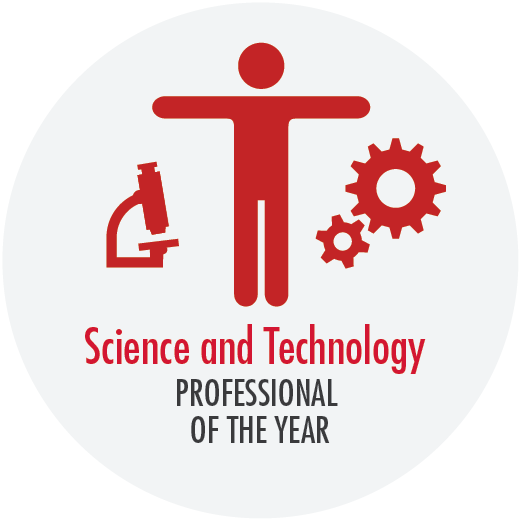 Button - science and technology professional