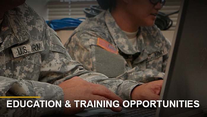 Button: NCO education and training opportunities