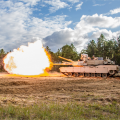 "If a combat vehicle's systems architecture is ""open""—using widely supported standards rather than one vendor's proprietary standards—it's easier for the Army to update the vehicle to add new capabilities. PEO Ground Combat Systems, which manages the Abrams tank pictured here, introduced an open-systems approach for the fighting vehicles in its portfolio. (Photo by PEO GCS)"
