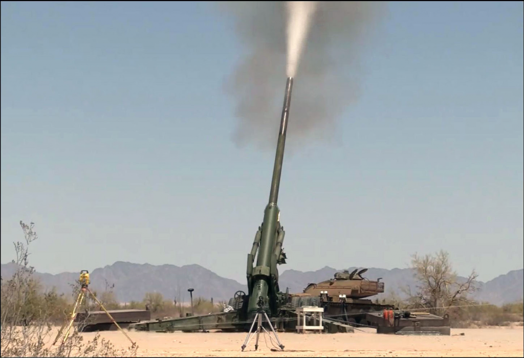 The Army's long-range precision fires priority seeks to restore Army dominance in range, lethality, mobility, precision and target acquisition. The Extended Range Cannon Artillery project at U.S. Army Yuma Proving Ground in Arizona includes the XM1113 projectile, which surpassed 60 kilometers in May, and the Hyper Velocity Projectile, which has exceeded Yuma's testing space. (U.S. Army photo)