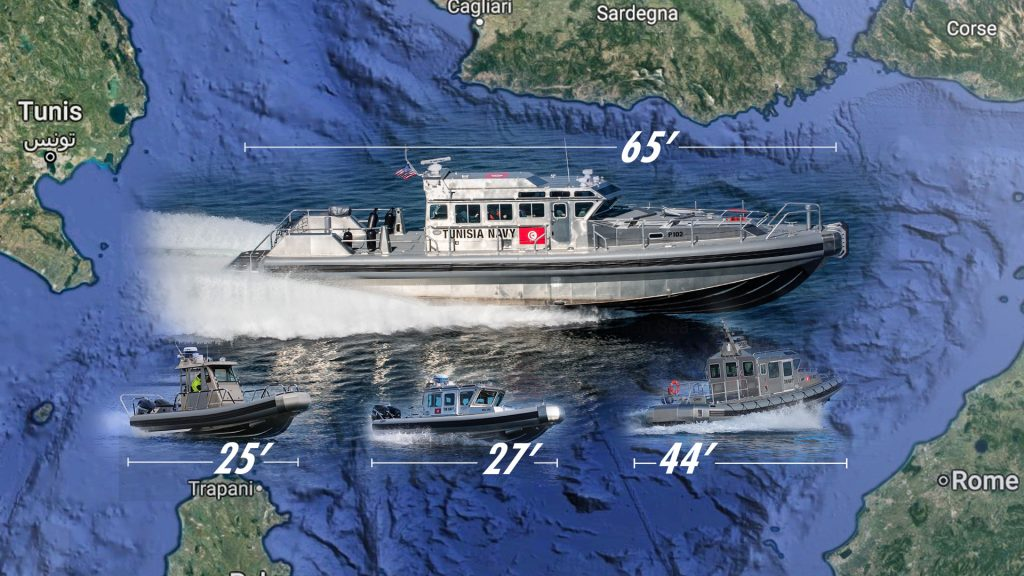 The Tunisian navy received 22 Response boats, ranging in size from 25 to 44 feet, between 2010 and 2013. These new vessels replaced the navy's aging small boats, which had been used for patrolling, search and rescue and interdiction. (Photos courtesy of SAFE Boats International)