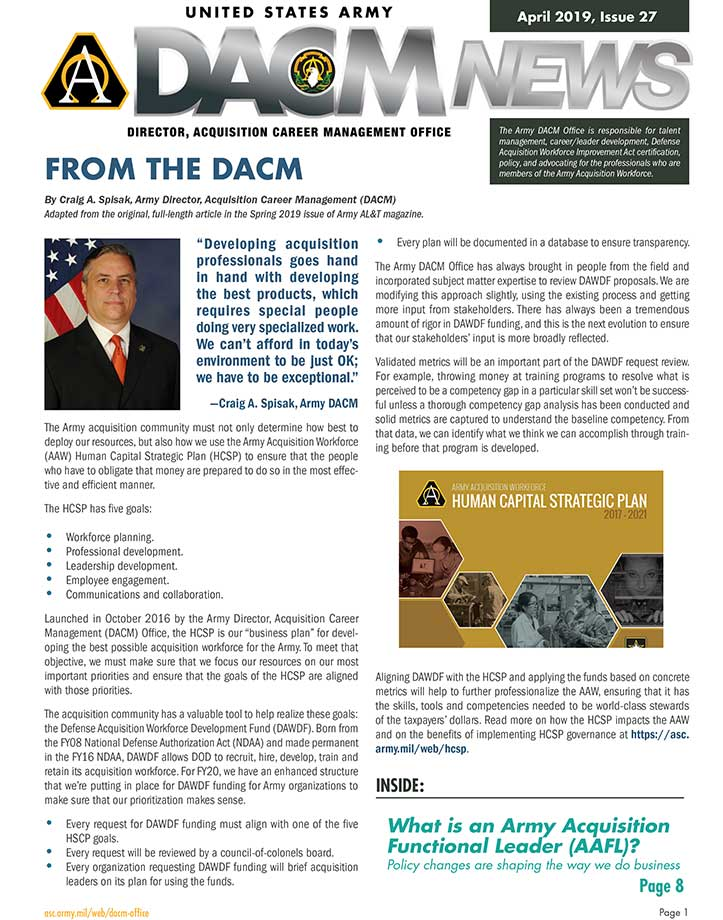 Button - DACM Newsletter