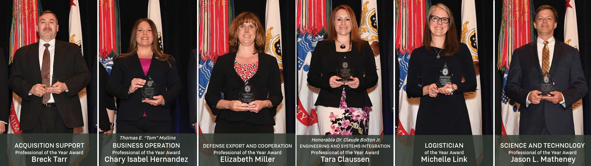 Images of individual award winners
