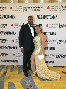 Peter and Stacy Nesby at the Leukemia and Lymphoma Society Man & Woman of the Year Gala in June 2016.