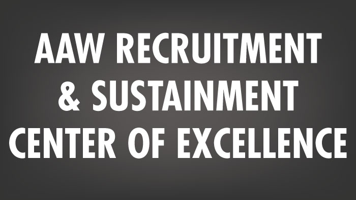 Link to AAW Recruitment and Sustainment center of Excellence