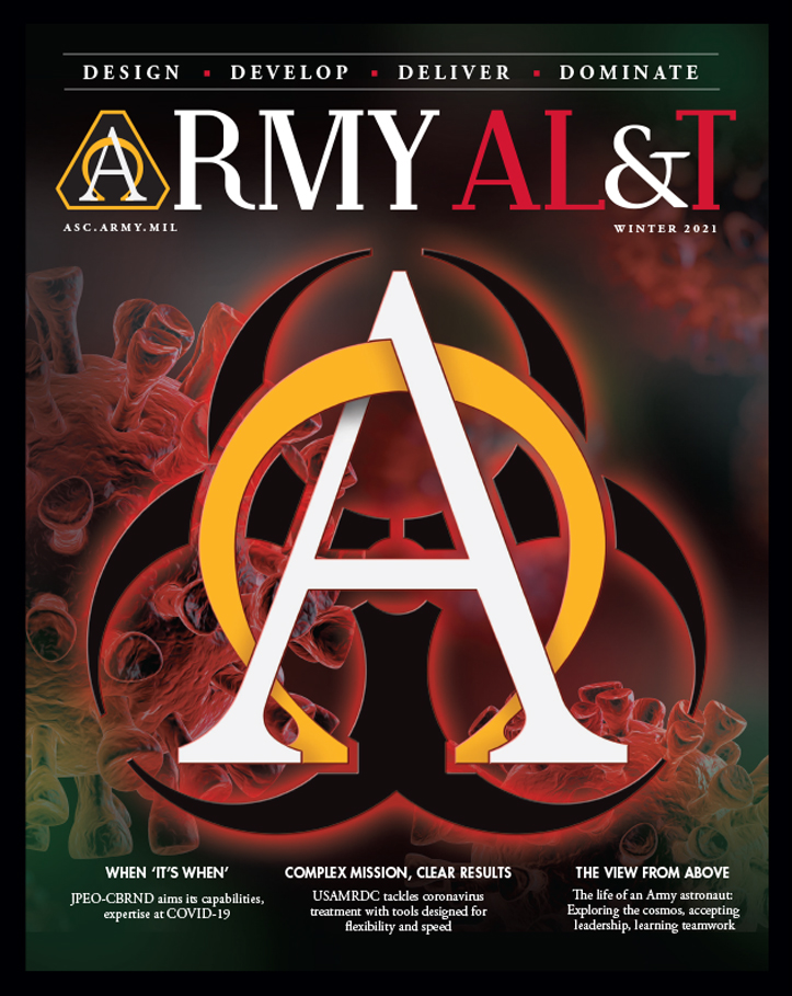 Graphic link to Army AL&T Magazine Winter 2021
