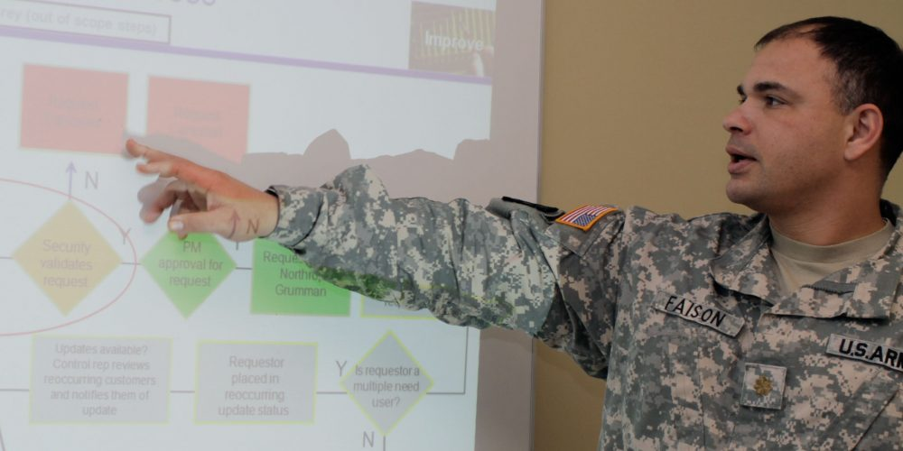 PEO C3T majors use Lean Six Sigma training to take on thorny issues