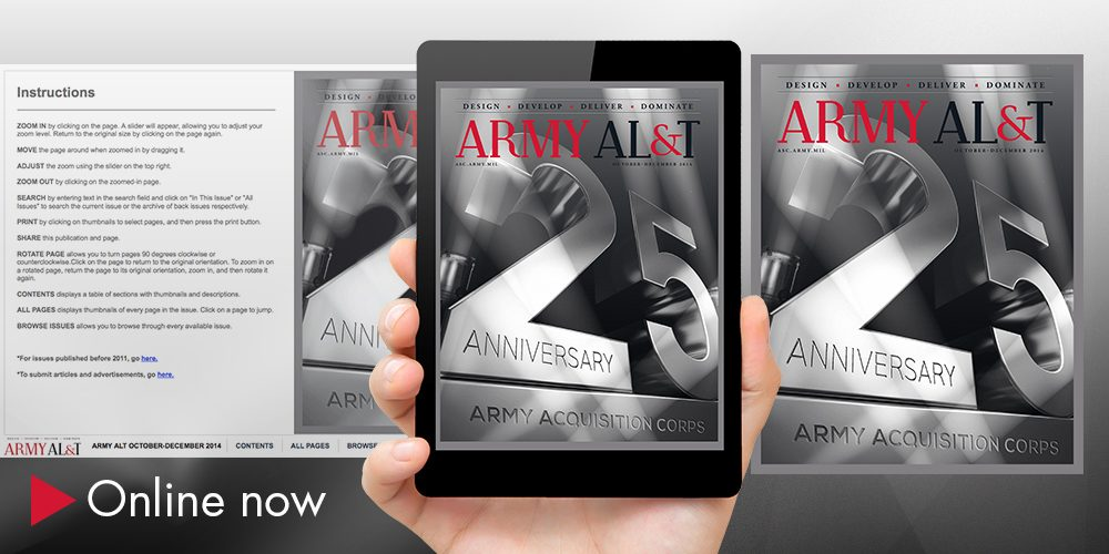 Army AL&T magazine celebrates 25 years of Army acquisition