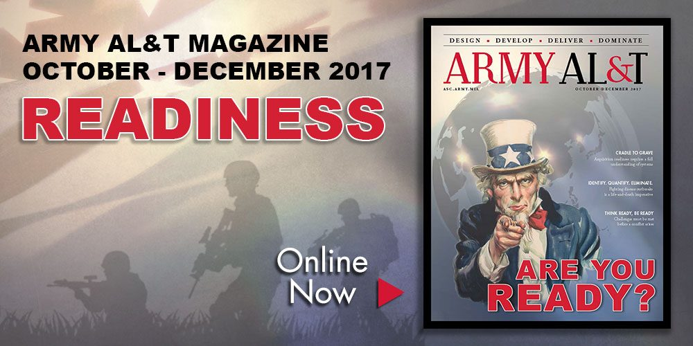 Are you ready? New issue of Army AL&T magazine focuses on readiness