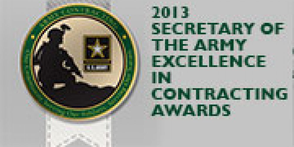 Secretary of the Army Awards for Excellence in Contracting Winners Announced