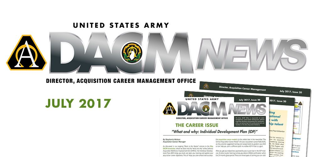 News from the Army DACM Office