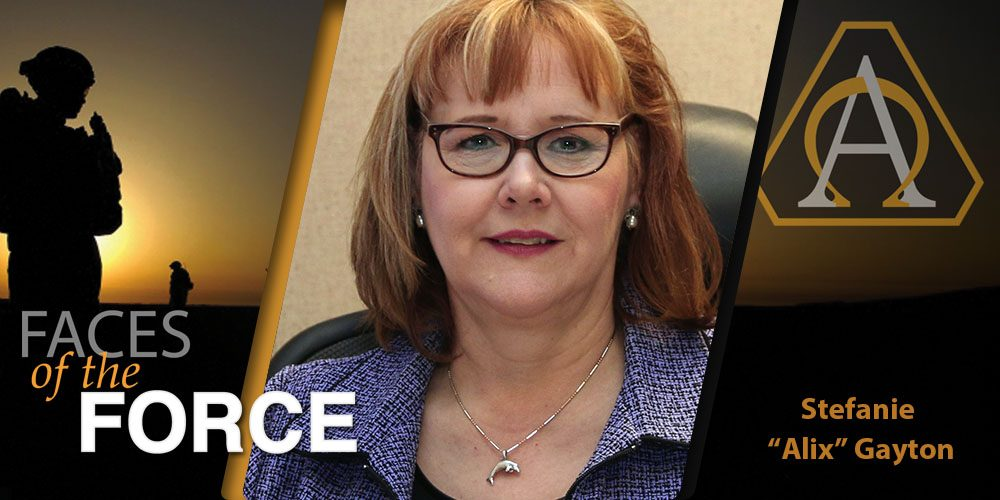 """Faces of the Force: Stefanie A. """"Alix"""" Gayton"""