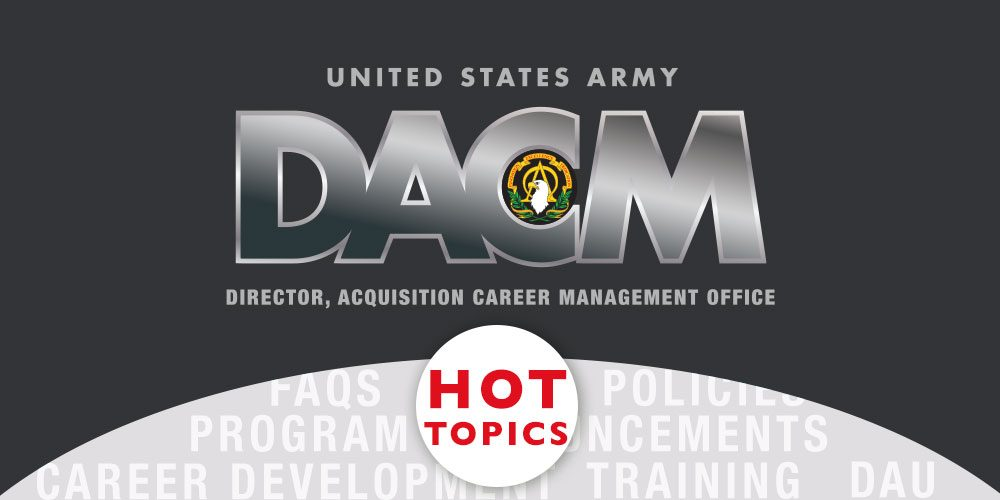 November Army DACM Hot Topics