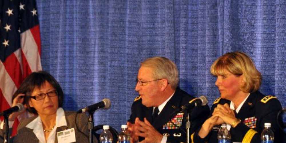 McQuistion takes questions during equipment modernization forum