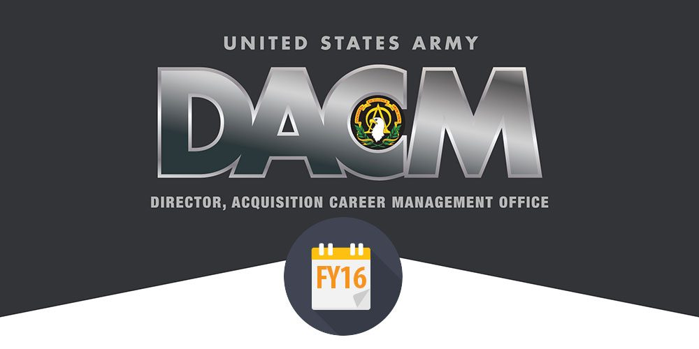 Army DACM Office announces training, leadership and educational opportunities for FY16