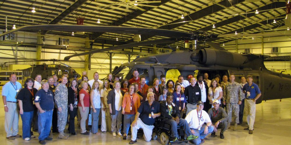 Utility Helicopters Office Reaches Out to Special Needs Students